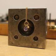 Halskette Brillant 0,09ct mit Tansanit Tropfen 0,83ct_1.250€